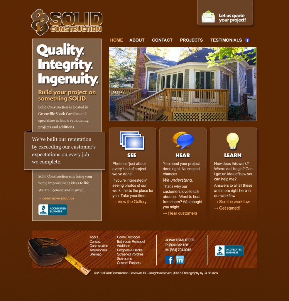 Solid Construction Home Page