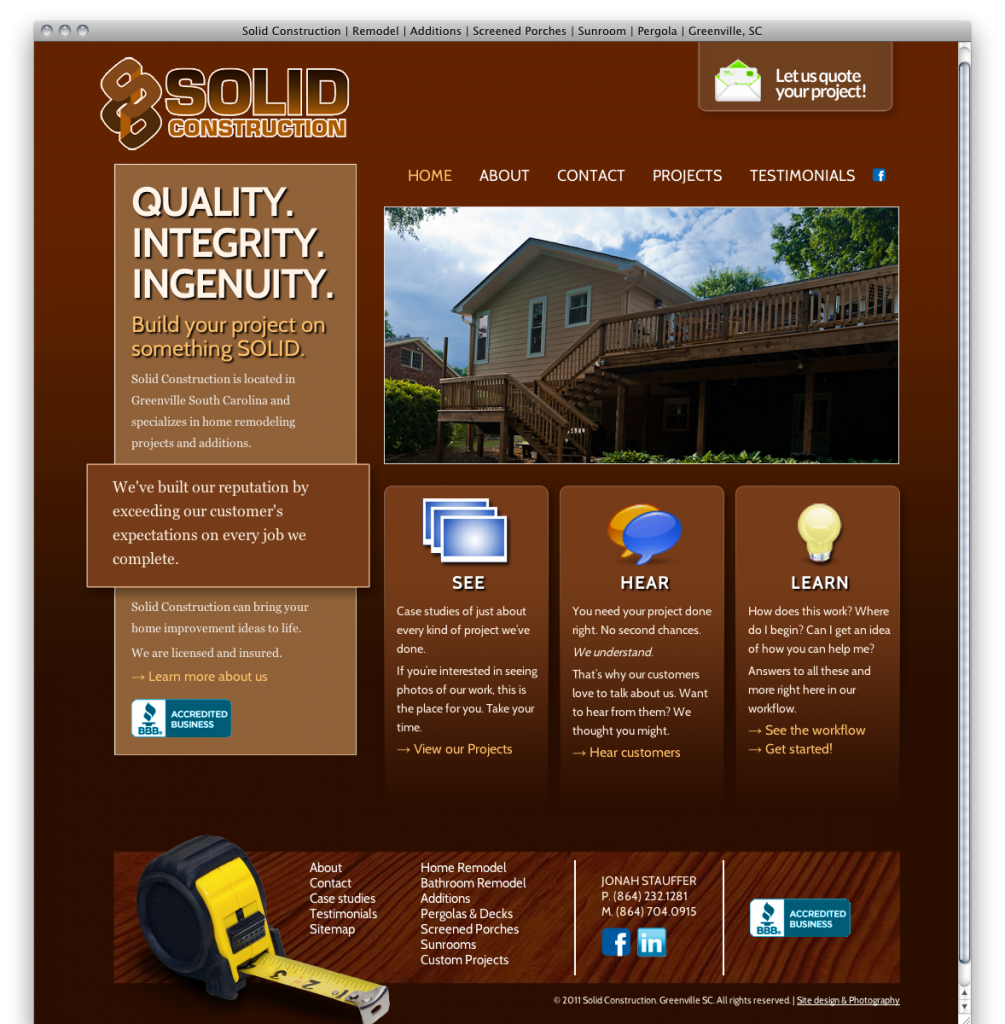 Solid Construction Website